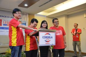 Simbolisasi Peresmian - Penekanan Tombol Launching Cordela Hotel Reward 2019